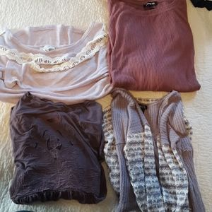 4 Purple Blouse Bundle